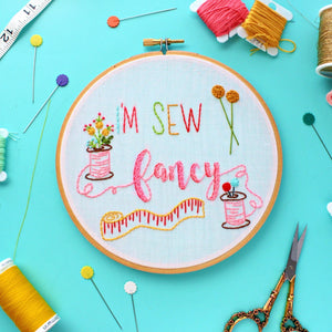 I'm Sew Fancy,Embroidery Hoop Art
