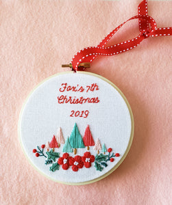 "CUSTOMIZEABLE ""Baby's First Christmas"" Ornament, Pastel Christmas Ornament"