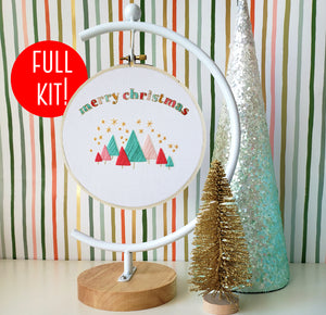 Merry Christmas Beginner Embroidery Kit