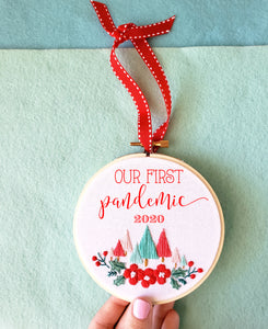 """Our First Pandemic 2020"" Digital PDF Embroidery Pattern-4 IMAGES ONLY"