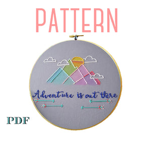 Adventure is Out There Embroidery Pattern
