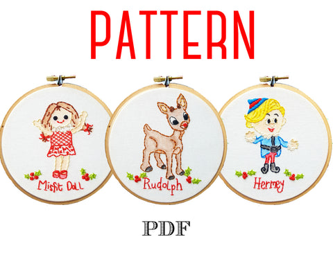 Vintage Rudolph the Red-Nosed Reindeer PDF Pattern