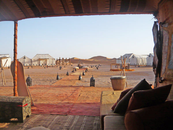 How to glam camp in the Sahara
