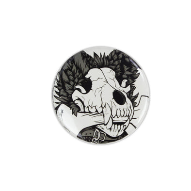 Glowy Pin Button - Dog Bone