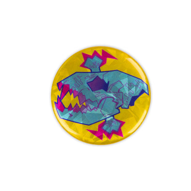 Sparkly Pin Button - Glitchwave
