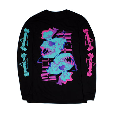 Glitchwave Long Sleeve - Black