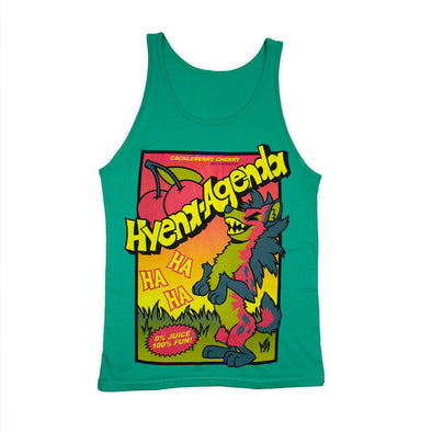 Cackleberry Cherry Tank Top - Teal [PREORDER]