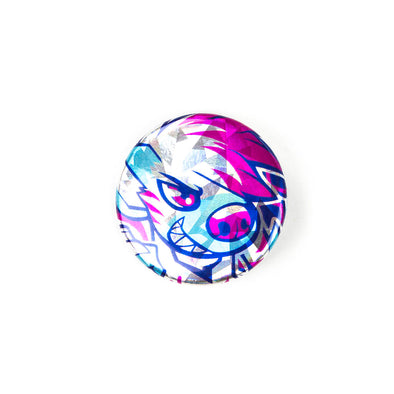 Sparkly Pin Button - Graffiti