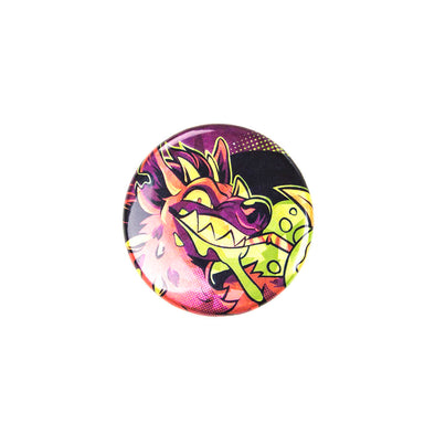 Sparkly Pin Button - Toxic Kaiju