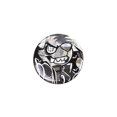 Sparkly Pin Button - Mech Pilot