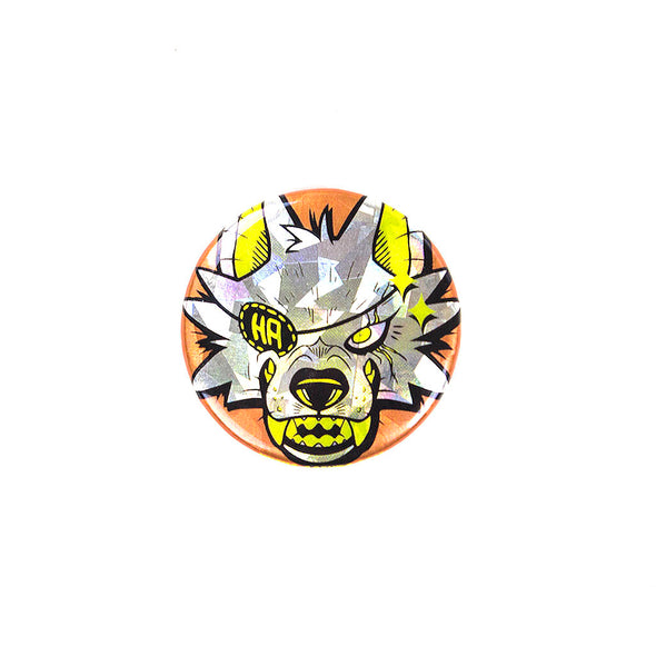 Sparkly Pin Button - Werewolf