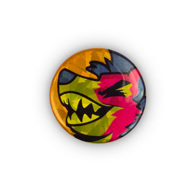 Sparkly Pin Button - Cackleberry Cherry