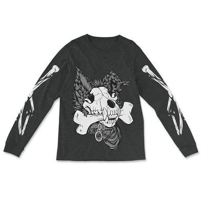 Dog Bone Long Sleeve - Charcoal