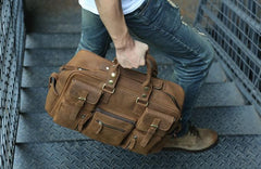 Cool Leather Mens Large Travel Bag Handbags Shoulder Bags for men