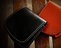 Handmade Leather Bifold Mens billfold Wallet Cool Slim Wallet Biker Wallet for Men