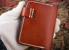 Handmade Mens Cool Short Card Holders Card Case Small Card Slim Wallets for Men