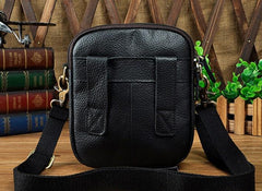 Mens Leather Small Belt Pouch Side Bags Waist Pouches COURIER BAG Holster Belt Case for Men