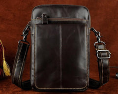 Mens Leather Side Bag Belt Pouch Holster Sling Bag Belt Case Waist Pouch for Men