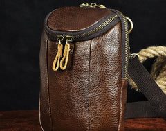 Small Mens Leather Side Bag Belt Pouch Holster Belt Case Waist Pouch for Men