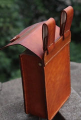 Handmade Leather Belt Pouch Mens Brown Waist Bag CIGARETTE Pouch for Men