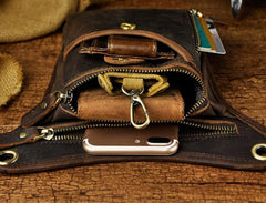 Leather Belt Pouch for Men Leg Drop Bags waist BAGs Shoulder Bag For Men