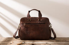 Leather Mens Large Briefcase Work Bag Travel Bag Business Bag for Men
