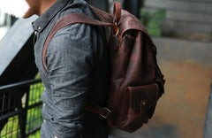 Cool Mens Leather Backpacks Travel Backpacks Laptop Backpacks for Men
