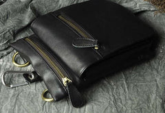 Mens Leather Small Side Bag COURIER BAG Waist Pouch Holster Belt Case Belt Pouch for Men