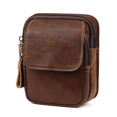 Leather Belt Pouch Mens Small Cases Waist Bag for Men