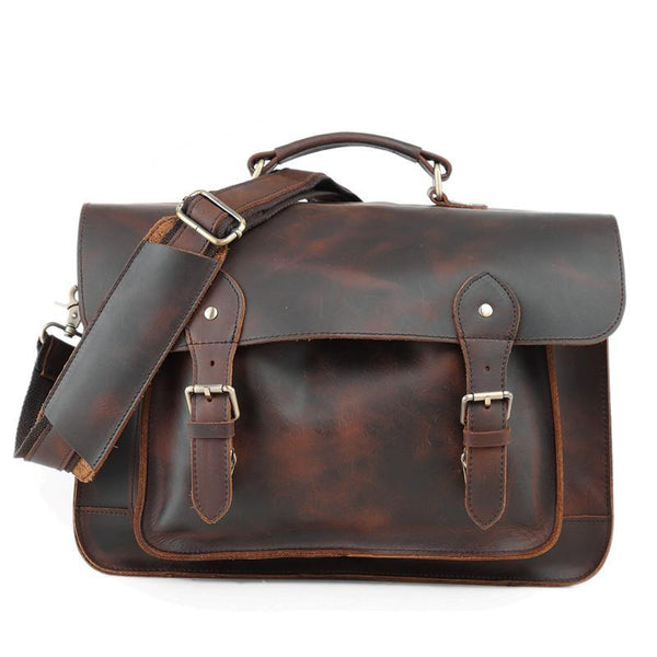 Vitnage Brown Leather Men's Camera Shoulder Bag SLR SIDE BAG Camera Handbag For Men