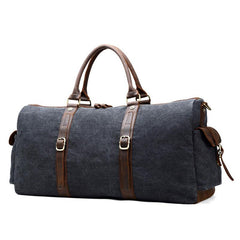 Mens Waxed Canvas Leather Large Weekender Bags Canvas Travel Bag for Men