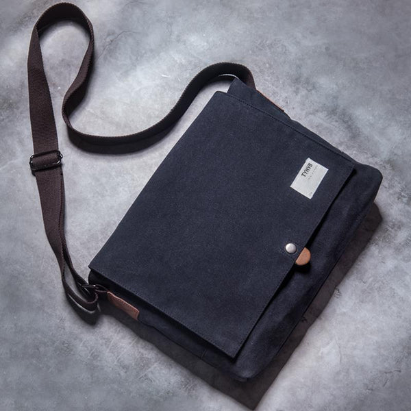Cool Canvas Mens Student Shoulder Bag Side Bag Messenger Bag for Men