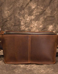 Cool Brown LEATHER MENS FANNY PACK FOR MEN BUMBAG WAIST BAGS