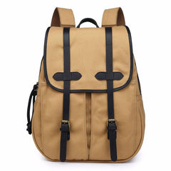 Mens Canvas Leather Backpacks Canvas Travel Backpack Canvas School Backpack for Men