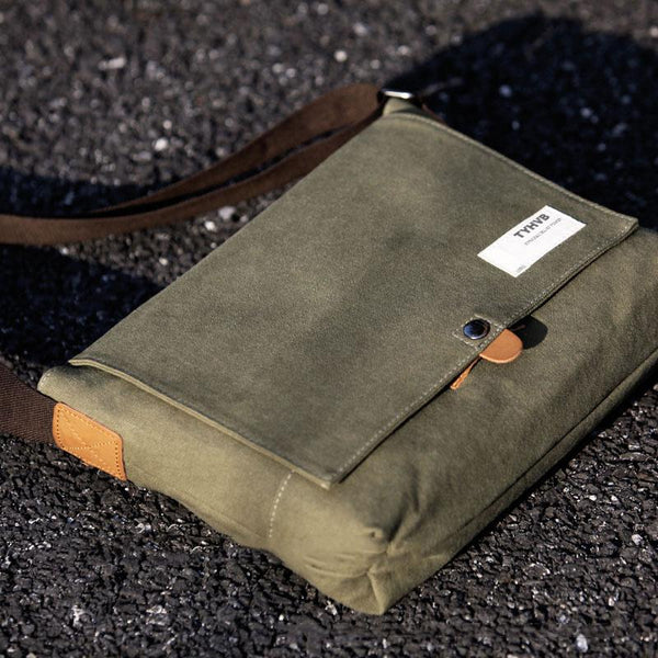 Cool Canvas Mens 11'' 13'' Mac Pro Air Side Bag Shoulder Bag Messenger Bag for Men