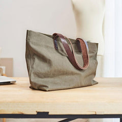 Mens Canvas Cool Tote Bag Canvas Handbag Canvas Tote for Men Women