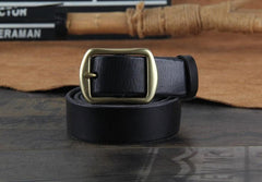 Genuine Leather Punk Rock Biker Trucker Mens Belt Men Black Coffee Belt for Men 3cm