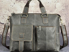 Vintage Leather Laptop Bags Business Bag Work Bag Mens Briefcases for Men