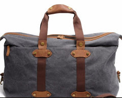 Mens Waxed Canvas Weekender Bag Canvas Travel Bag Shoulder Bag for Men