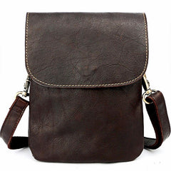 Cool Black Leather Mens Small Vertical Courier Bag Brown Messenger Bags Blue Postman Bag For Men