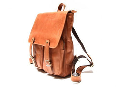 Leather Brown Mens Backpack Cool Travel Backpacks Laptop Backpack for men