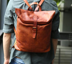 Cool Vintage Leather Mens Backpack Travel Backpack Laptop Backpacks for men
