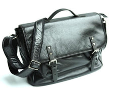 Cool Leather Mens Messenger Bag Briefcase Shoulder Bag for men