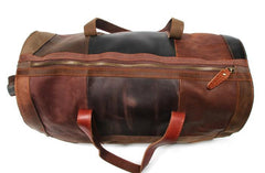 Cool Leather Mens Weekender Bags Travel Bag Duffle Bags Overnight Bag for men