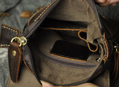 Mens Leather Small Side Bag COURIER BAGs Waist Pouch Holster Belt Case Belt Pouch for Men