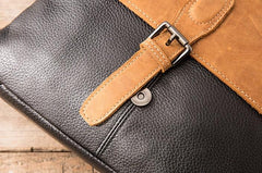 Handmade Cool Leather Mens Small Messengers Bag Shoulder Bags for Men