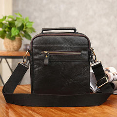 Cool Coffee Small Leather Mens Side Bag Messenger Bag Shoulder Bag for Men