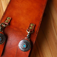 Handmade Cool Leather Belt Pouch Mens Waist Bag Cell Phone Holsters for Men