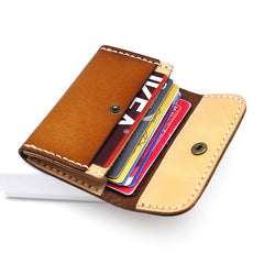 Leather Mens Card Wallet Front Pocket Wallets Small Slim Wallets Change Wallet for Men