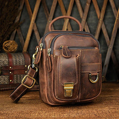 Vintage Leather Belt Pouches for Men Waist Bag BELT BAG Shoulder Bags For Men